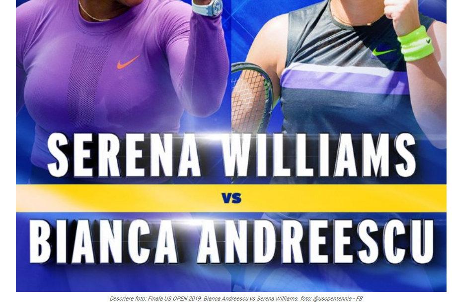 Bianca Andreescu va juca FINALA de la US OPEN cu Serena WILLIAMS