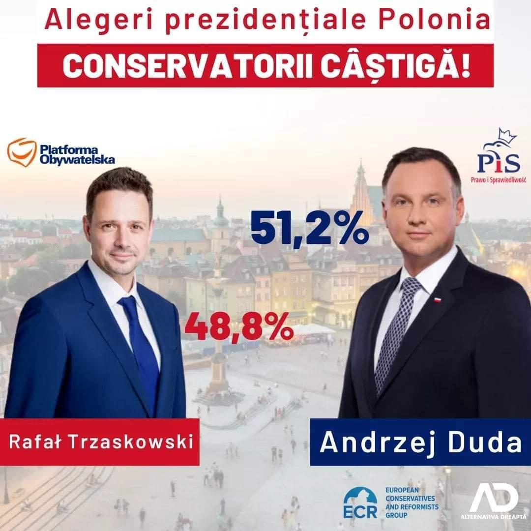 Polonezii au reales un preşedinte eurosceptic